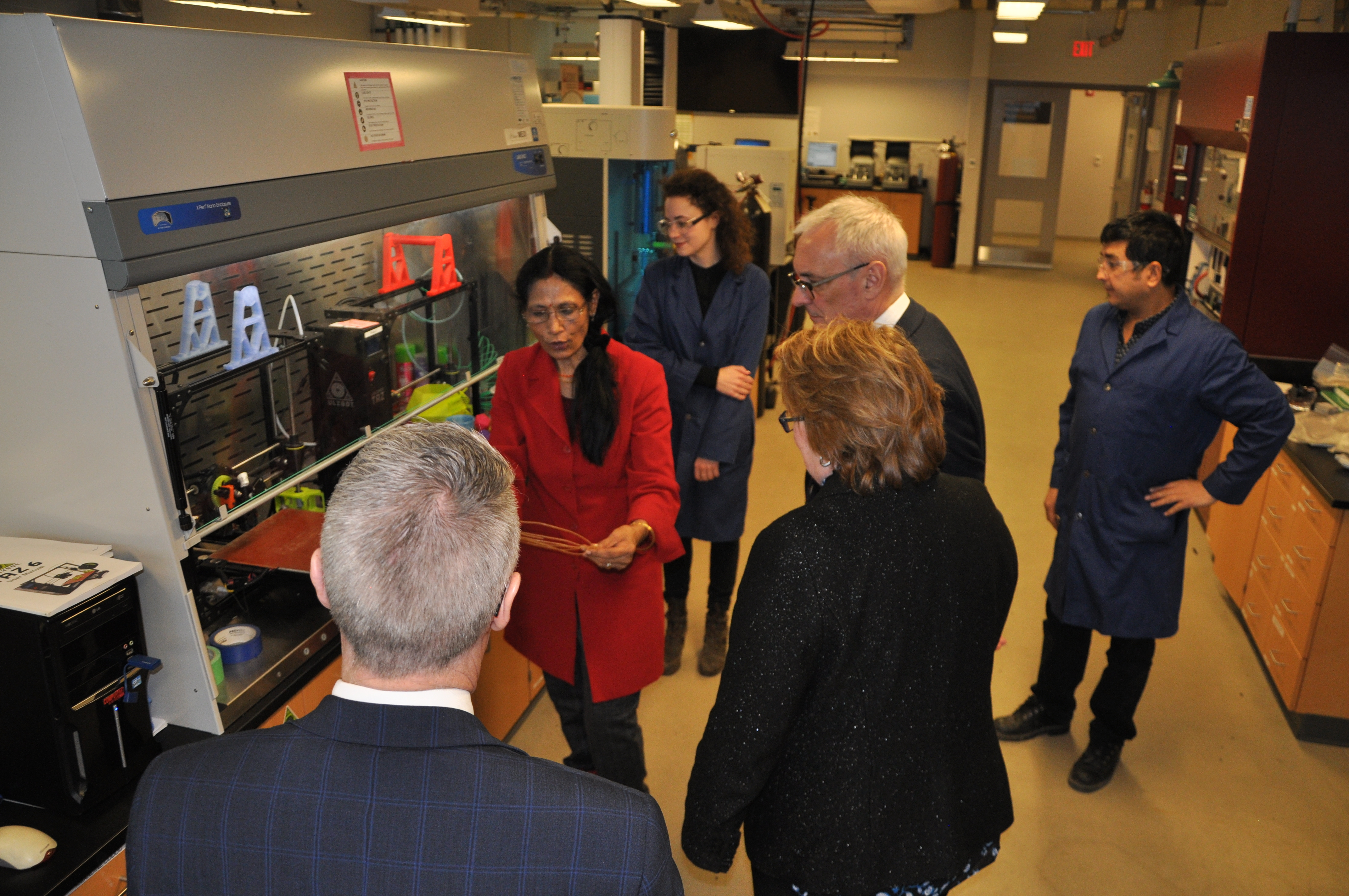 Dr. Misra doing a tour of the BDDC facility