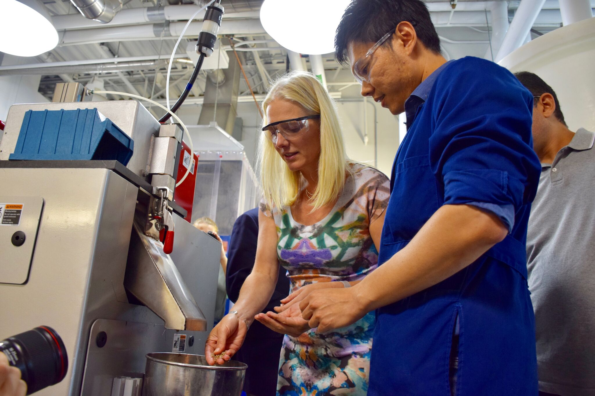 The Honourable Catherine McKenna touring the Bioproducts facility (Processing lab)