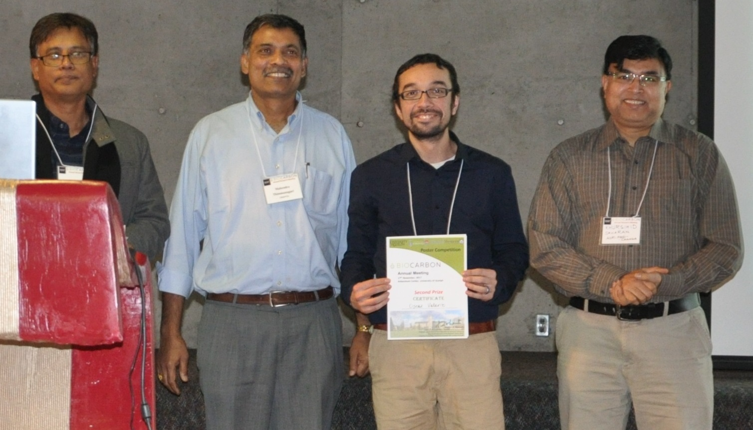 Biocarbon Research Meeting Poster Awards - Second Place