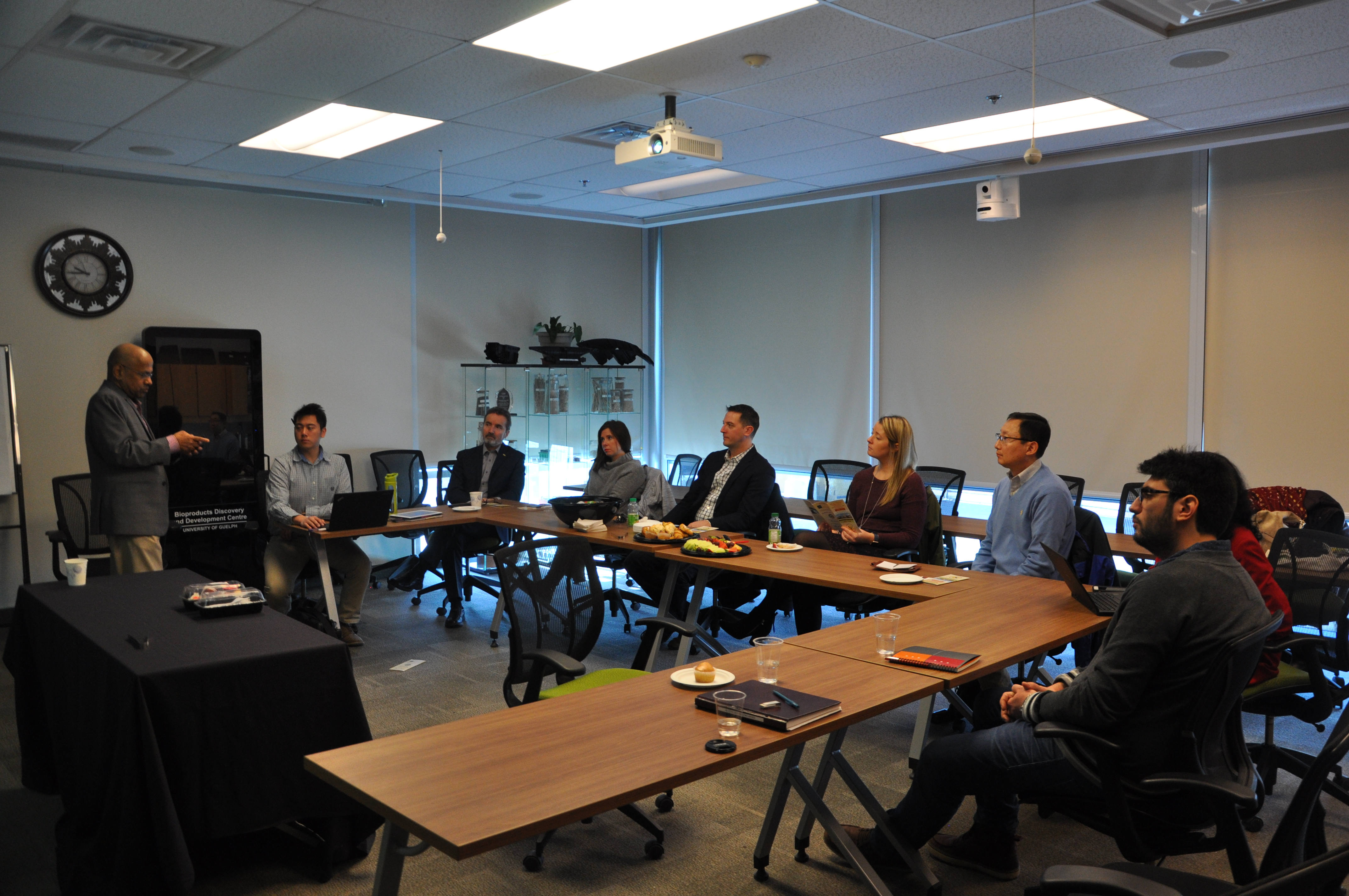 Representatives from BIOX Corp., Nak Paik and Alan Rickard, visiting the BDDC