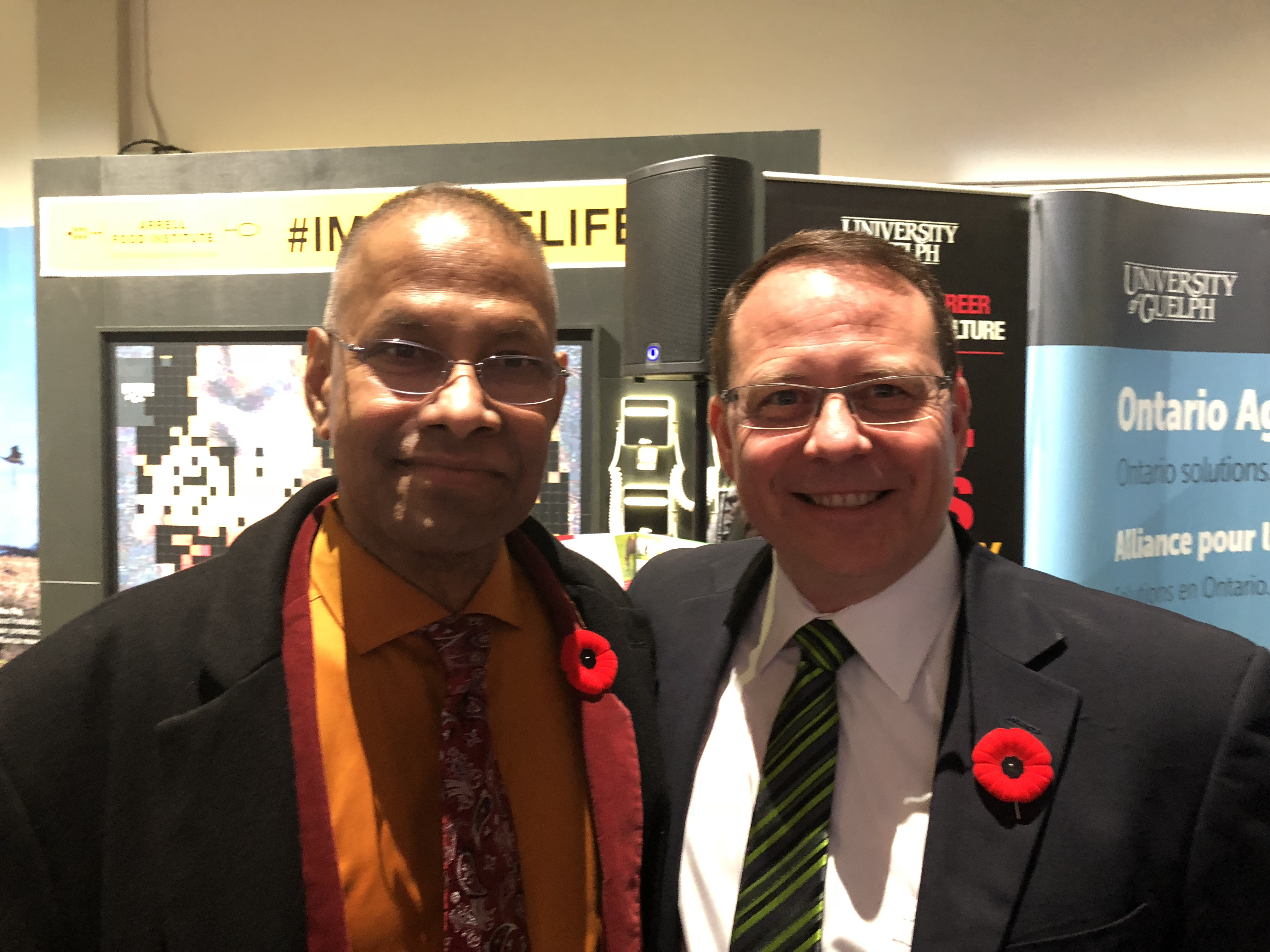 Professor Mohanty with Guelph MPP Mike Schreiner