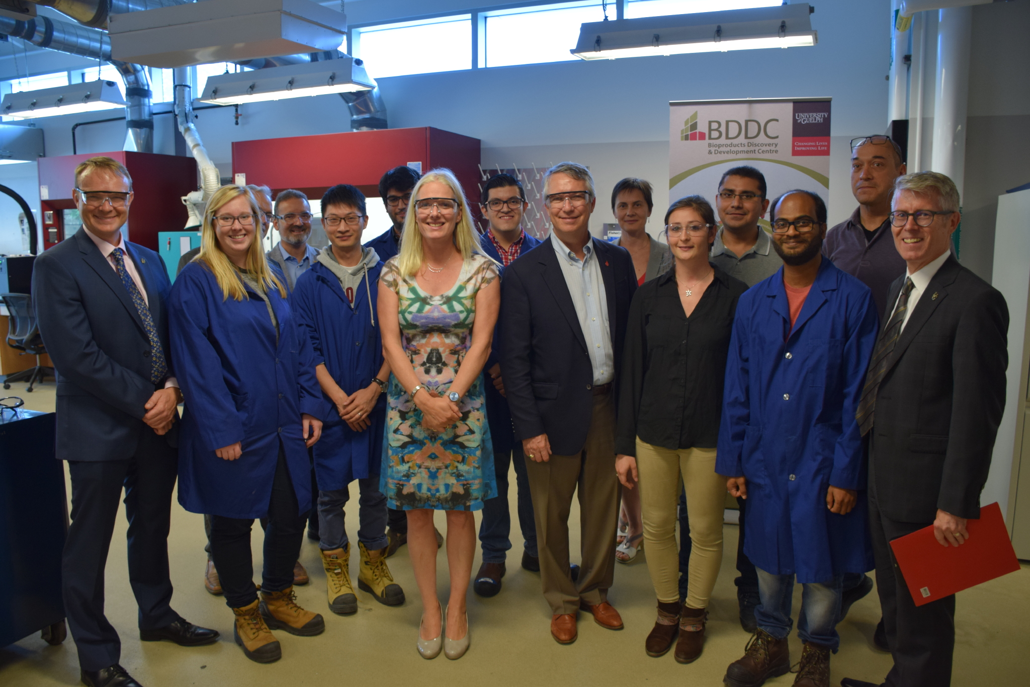 Group photo with the Honourable Catherine McKenna