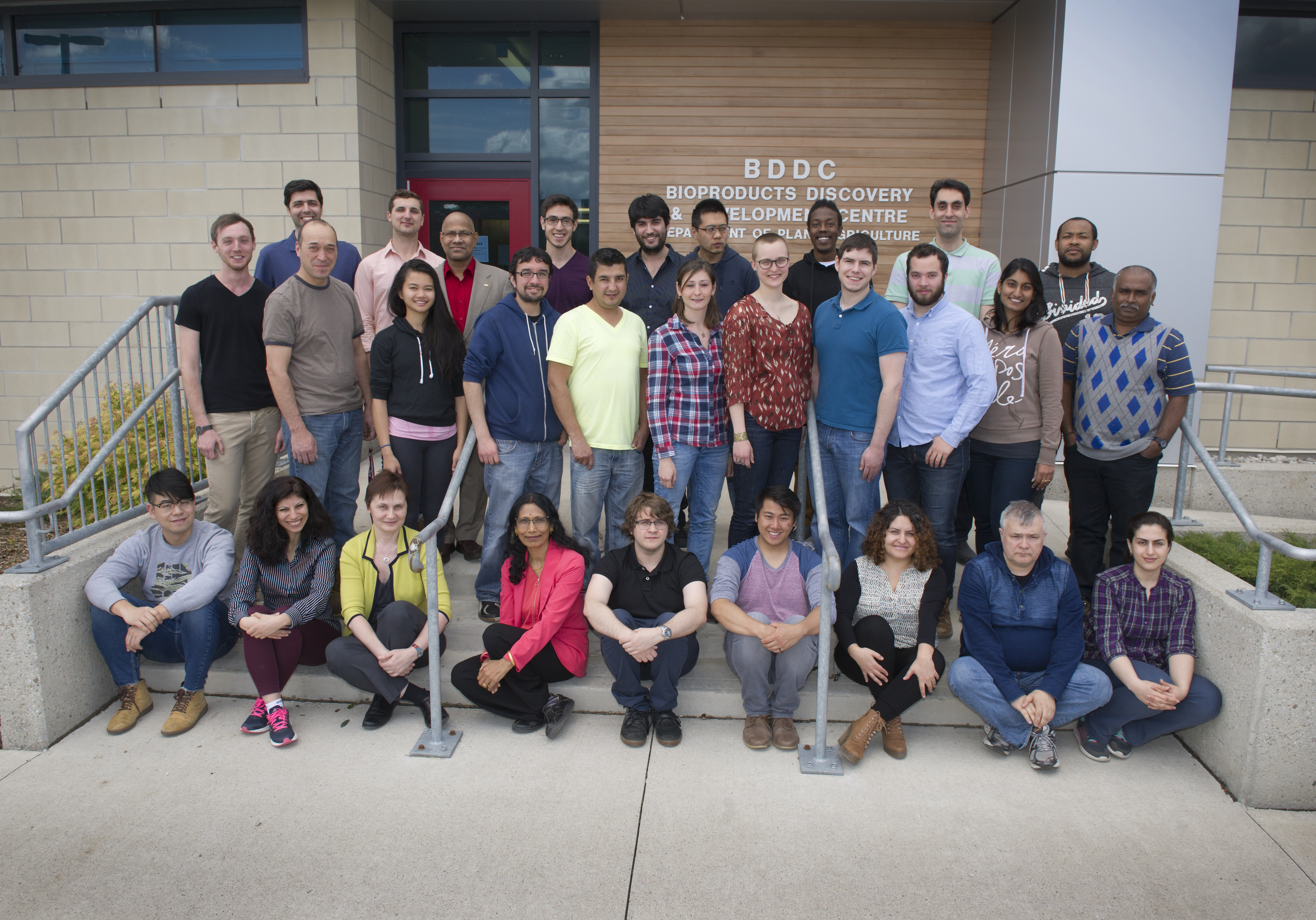 Group photo of the bioproducts discovery and development centre personnel