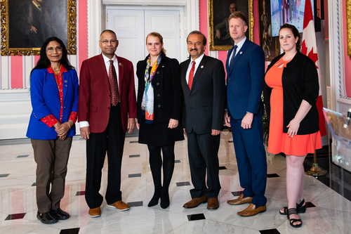 Image - Professors Amar Mohanty and Manjusri Misra met with Her Excellency the Right Honourable Julie Payette, Governor General