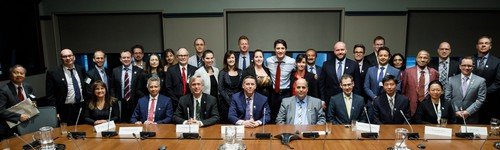 Image - NSERC Top Researcher Award recipients with Prime Minister Trudeau